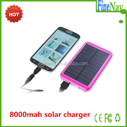 Wholesale solar cellphone charger 8000mah solar charger for ipad OEM ODM accepted