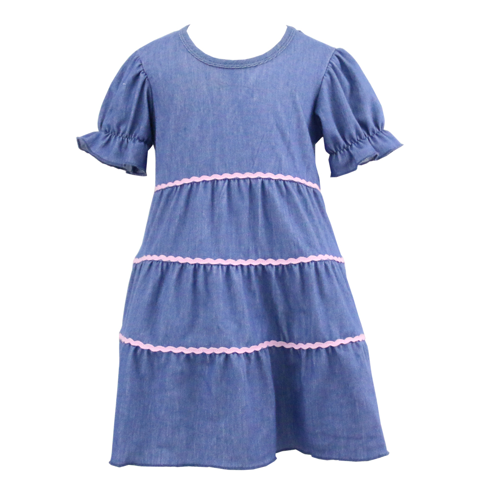 kai yo new design casual baby girl kids fashion dresses pictures