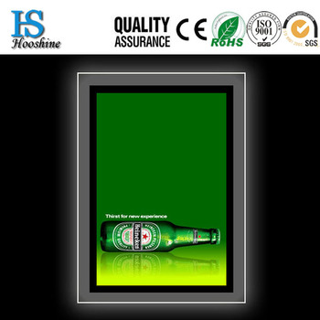 2015 Customized crystal light box/LED crystal light box frame