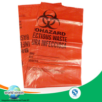 Medical waste packaging plastc bags!Factory good and cheap plastic hazardous waster bags