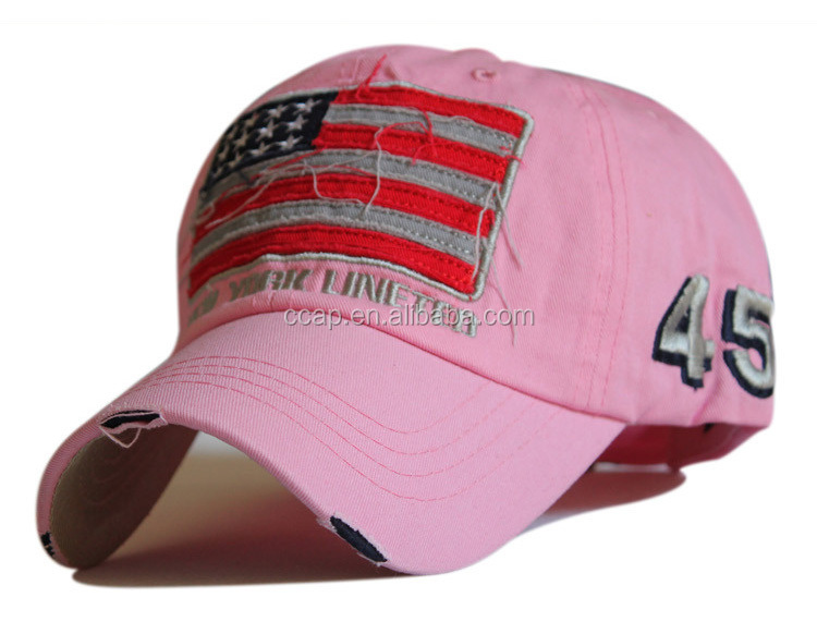 American Baseball Cap with Flag