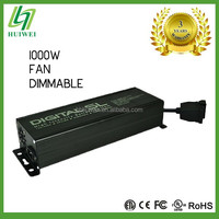 Hydroponic HID Electronic Ballast 1000W Dimmable hps mh With Cooling Fan Original Manufacturer