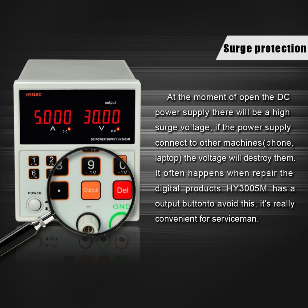 HY3005M precise DC power supply 30V 5A switch mode