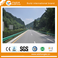 guard rail dimentions used for road safety