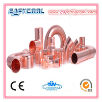 Different type copper fittings for refigeration parts