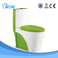 Sanitary ware ceramic bathroom colored siphonic one piece toilet