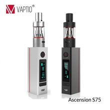 latest products silver e cigarette Vaptio 75W ATC electronic automizer spain