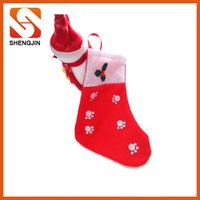 Silk screen printing pet Christmas stocking