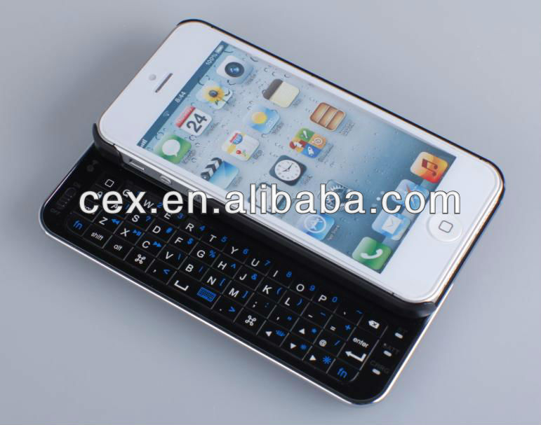 ULTRA THIN Slim Slide out Wireless Bluetooth Keyboard Case Cover for iPhone 5 5G