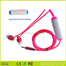 high quality popular flat cable earphone with mic for mobile, mp3/mp4
