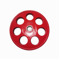 Colourful7 holes Rubber Bumper Weight Plate