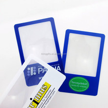 Latest style selling good wrist watch magnifier credit card size industrial magnifying glass
