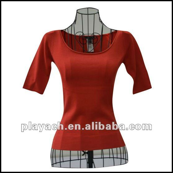 red cotton sweaters old style pullover women