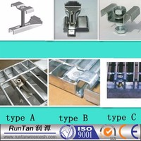 Anping cheap hot dipped galvanized steel grating fixing clips (free sample)