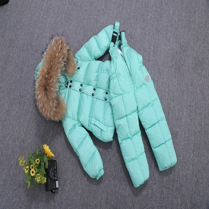 OEM Kids Winter Snowsuit Puffer Down Jacket With Hoodie