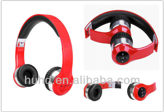 Best wireless stereo headset/wireless headphone with TF card and FM radio/wireless mp3 sport headphone with FM