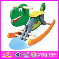 2015 Kids Wooden Animals Zoo Rocking Horse,Painted Swing Horse Toys for children,Cheapest baby wooden rocking horse toy WJY-8108