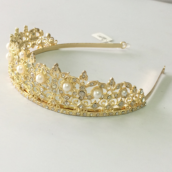 Wholesale new wedding headdresses gold tiaras and crown