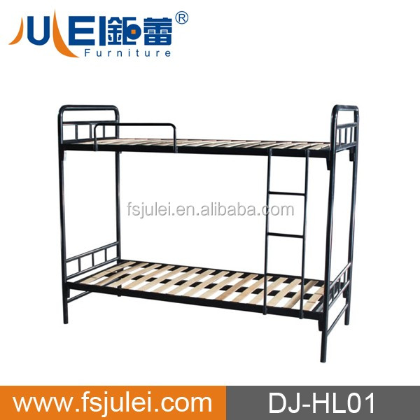 popular dormitory bed frame iron bunk bed DJ-HL01 double decker bed