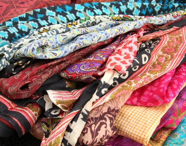 Silk Sari's Used for