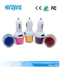 Colorful Rose Flower 12V 1.5A USB Car Charger Fast Delivery, Single USB Port Car Charger Adapter For Phone