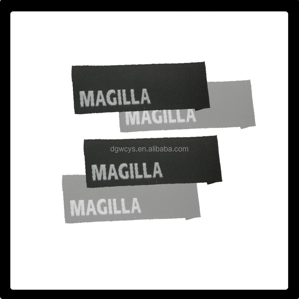 Customized High Density Material Woven Label Back Iron On