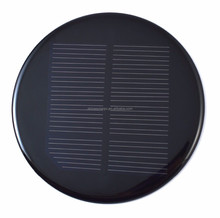 Epoxy Resin PET Laminated Mini Round Solar Panel 5.5v 6v 3v 0.5w 1w 2w For LED Light
