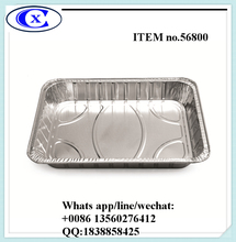 Item 56800 capacity 6700ml loaf tray disposable aluminum foil pan baking tray