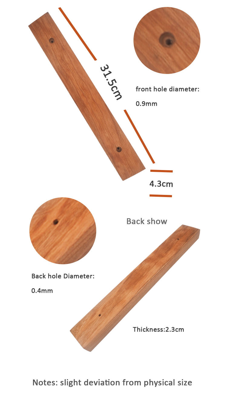 "Seatrend 14""/16"" Walnut/Cherry/Oak Magnetic Knife Holder/Strip For Kitchen Knives/Tools"