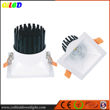 Shenzhen 5inch 24/40/60 degree option square LED deep reccessed downlight 25W for construction project