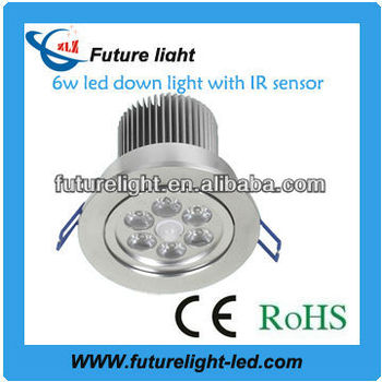 Hot selling high power 6w downlight pir motion sensor led light