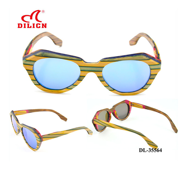 china supplier manufacture new product camouflage wooden sunglasses