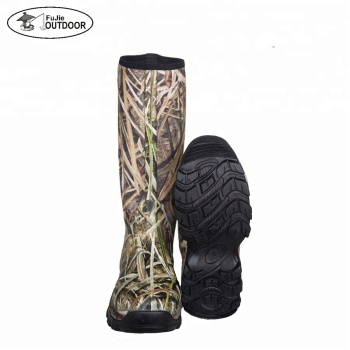 Outdoor Camo Neoprene Hunting Boots Mens Duck Hunting Boots