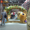 Outdoor indoor theme park dino gate dinosaur entrance for exhibition gate