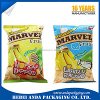 Food packaging material laminated plastic sachet packaging film /dried fruit packing sachet