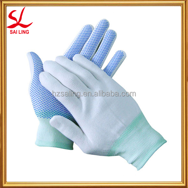 Making Machine Knitting Gloves Safety Latex Rubber Gloves Custom Printed Logo