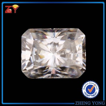 China Factory Price Synthetic Octagon Radiant Cut Moissanite Stone