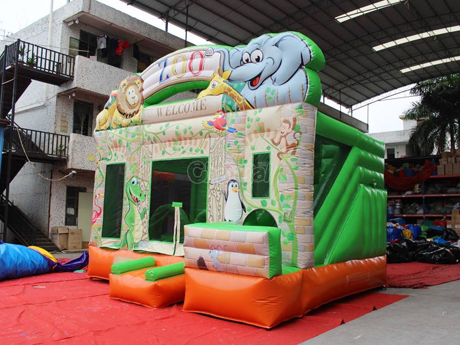 Commercial bouncer slide inflatable bouncer combo castle slideinflatable castle for kids