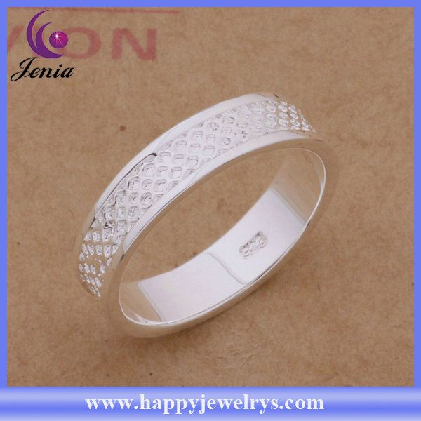 Hot selling fashion jewelry ring 925 silver plated silver mood rings AR293