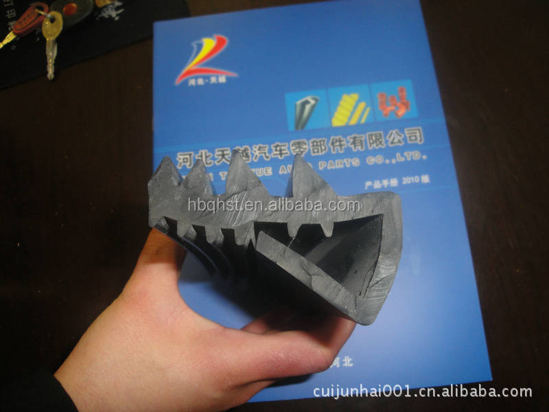 China manufacturer edpm windproof soundproof weather windshield rubber sealing strip for boat