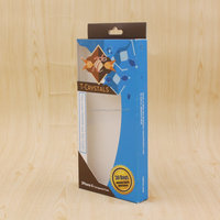 Custom Cellphone Case Packaging Box with PVC Window and Hanger