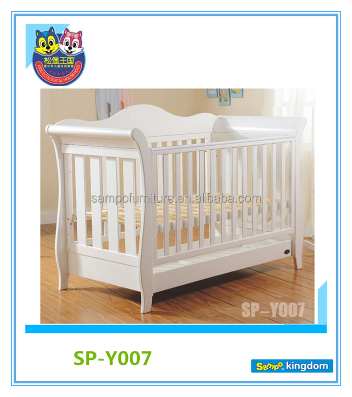 Hand Carved Wood White Baby Cots Used Toddler Beds For Sale