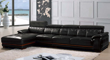 Multifunctional genuine leather u shaped sectional sofa for wholesales
