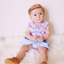 spring summer cotton onesie jumpsuit+skirt baby clothing set