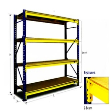Boltless shelving ready stock cash sale 0.95m*0.45m*1.8m steel angle rack