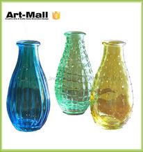 Promotional pyrex handblown lead free clear crystal glass vase with round bottom