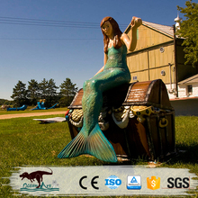 OA5222 Customized fiberglass mermaid sculpture