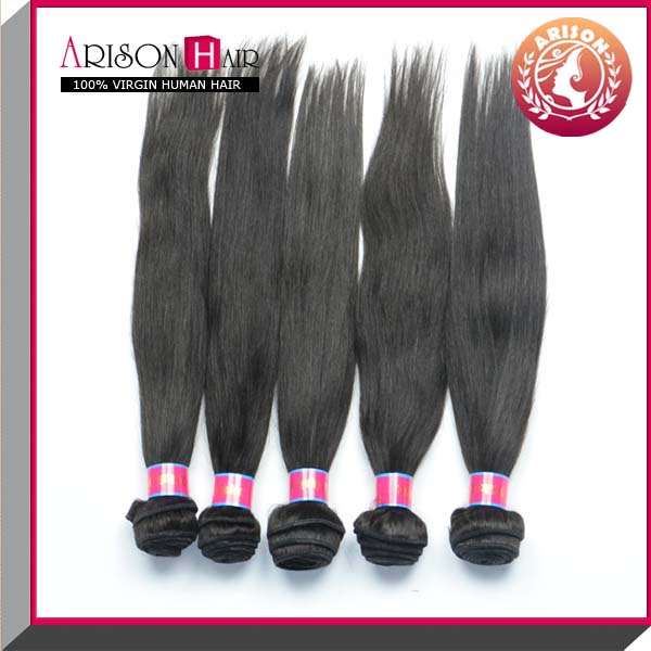 High hair denity natural color brazilian straight hair 4 bundles.