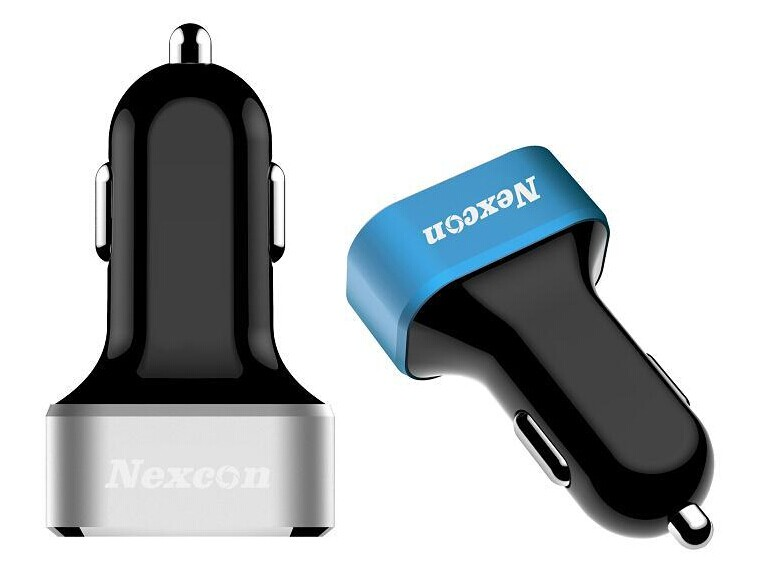 New 6.6A 3 USB Output Car Charger with Smart Sense IC