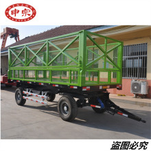 high hurdle 5 ton grass trailer with back dump for sale